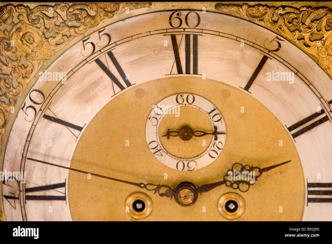 Close up detail de la partie d'antique horloge Banque D'Images