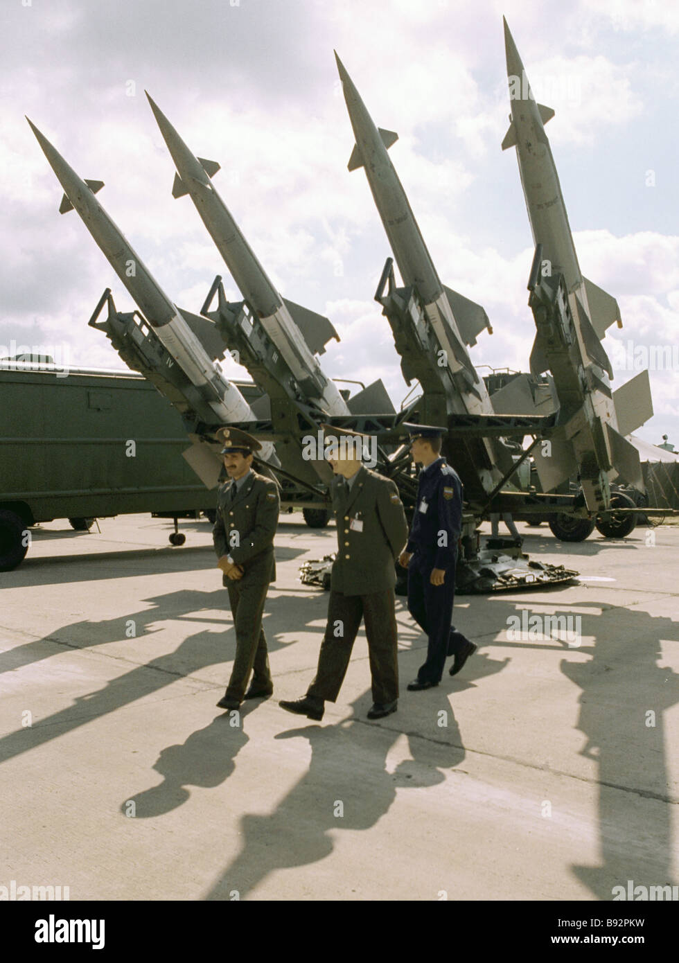 Les missiles surface-air SAM launcher Photo Stock