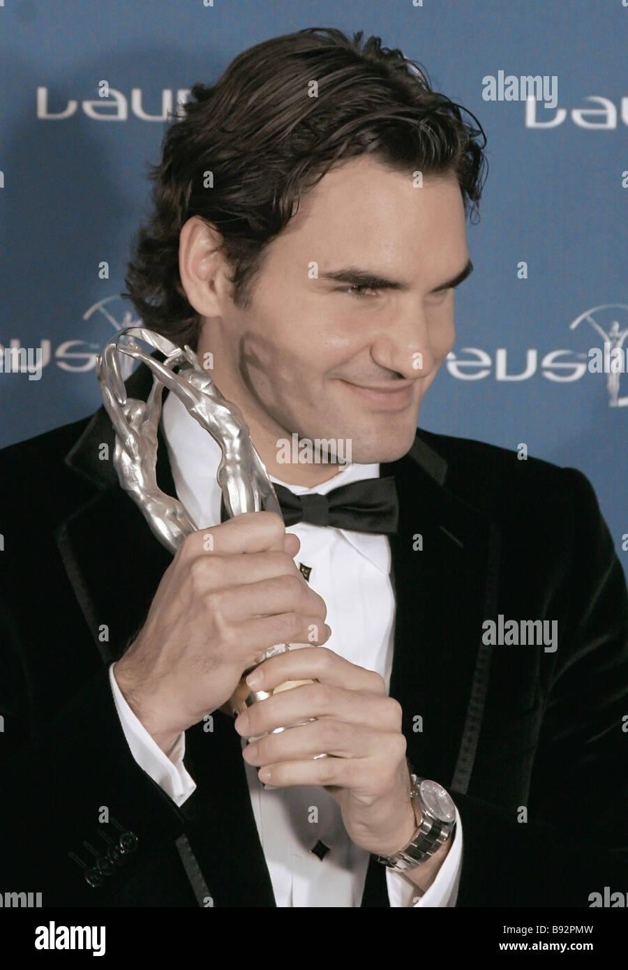Le joueur de tennis suisse Roger Federer les Laureus sportif de l'année à la 9e cérémonie annuelle de l'octroi de la Laureus World Sports Banque D'Images