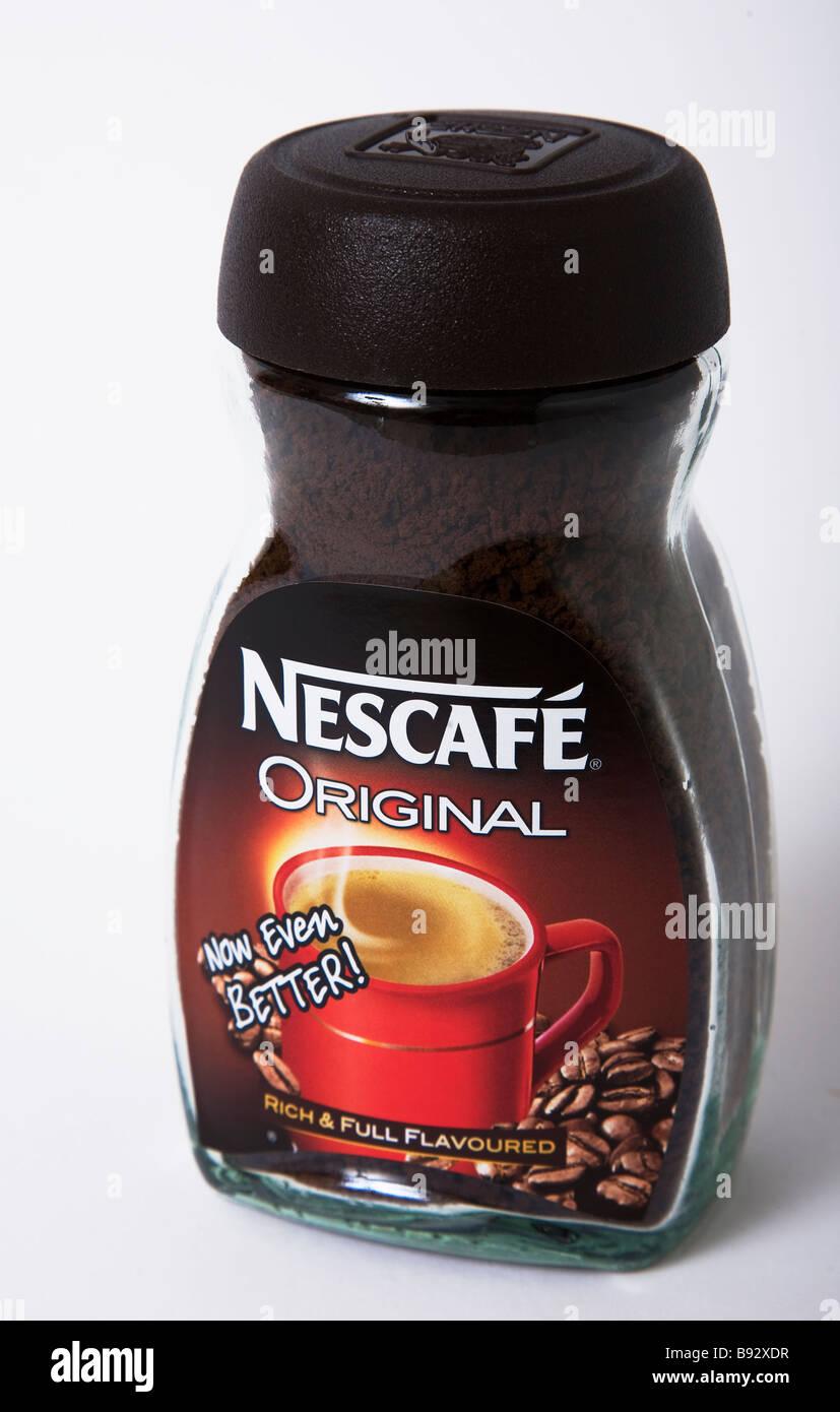 Café Nescafé original jar Photo Stock