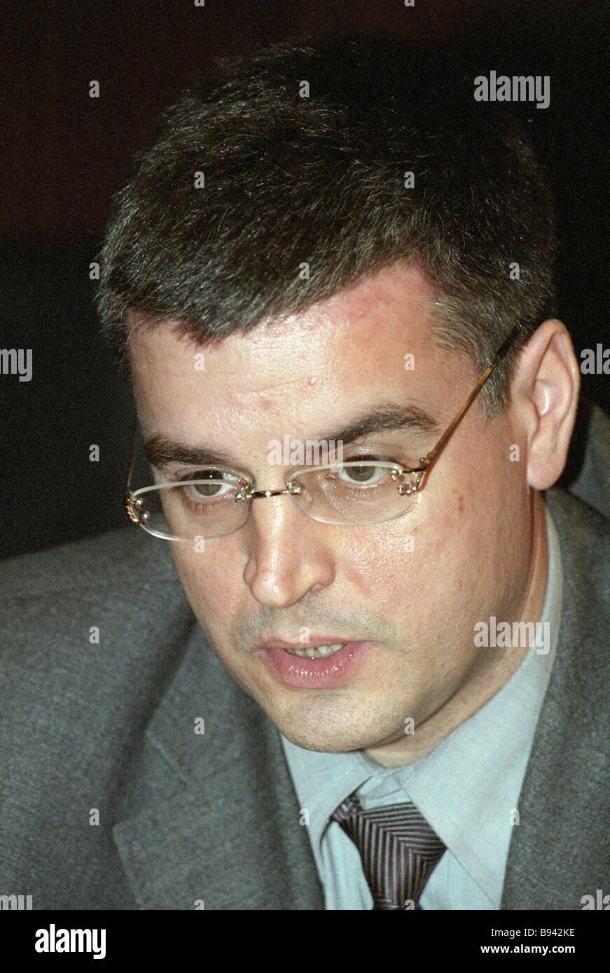 Andrei Kalinin Munitions russe vice-directeur général de l'Agence Photo Stock