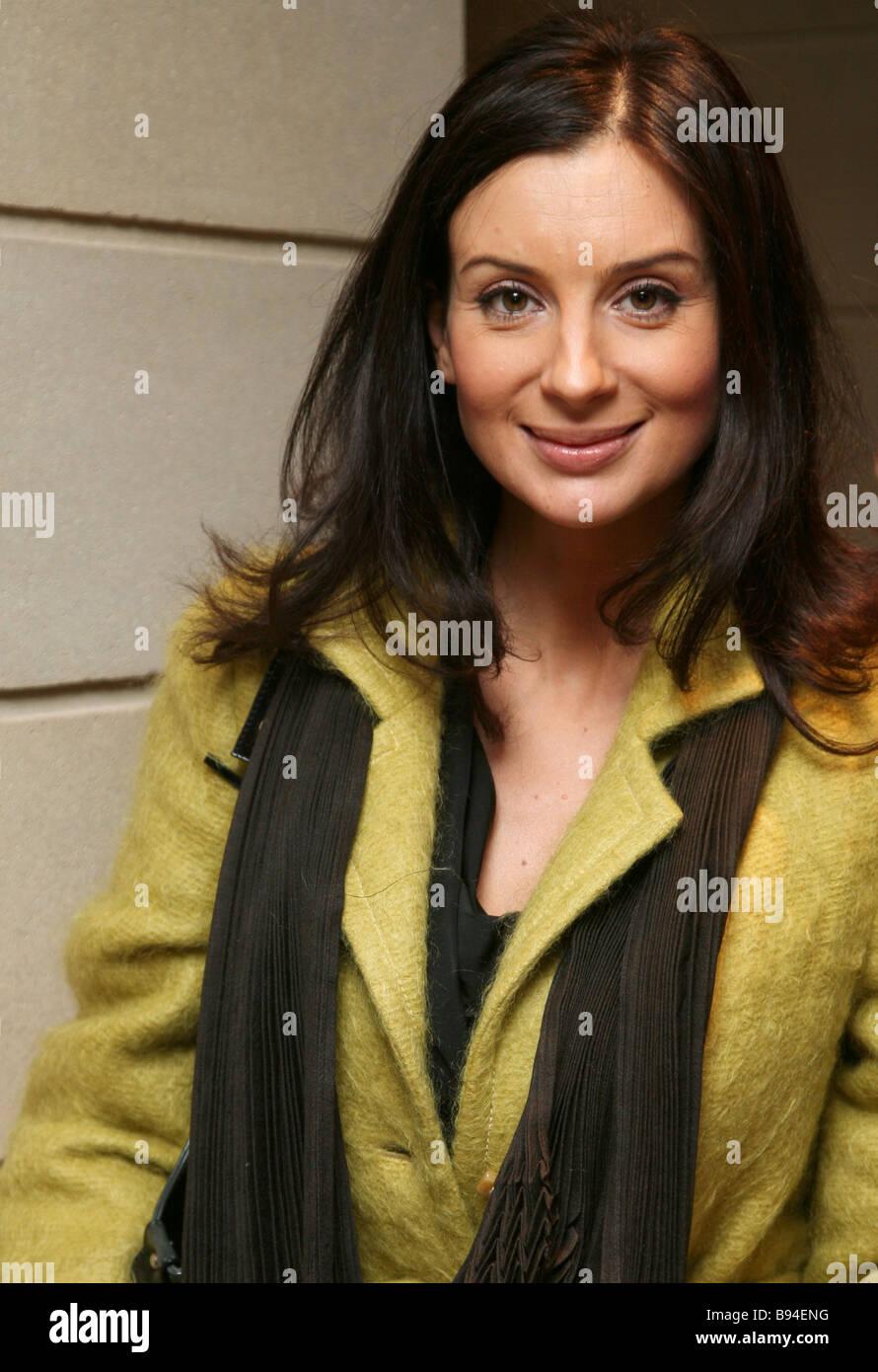 Crocus Un atelier couture boutique a ouvert à Moscou l'actrice et présentatrice de télévision Photo Stock