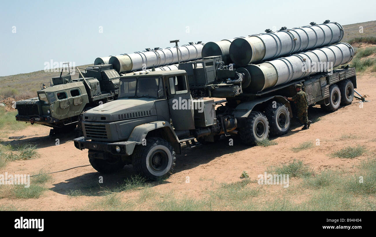 Un S 300 système de missiles surface-air SAM Photo Stock