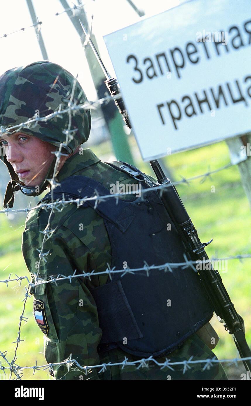 La zone d'un exercice particulier de la tactique des unités antiterroristes de la Russie et pays de la Photo Stock