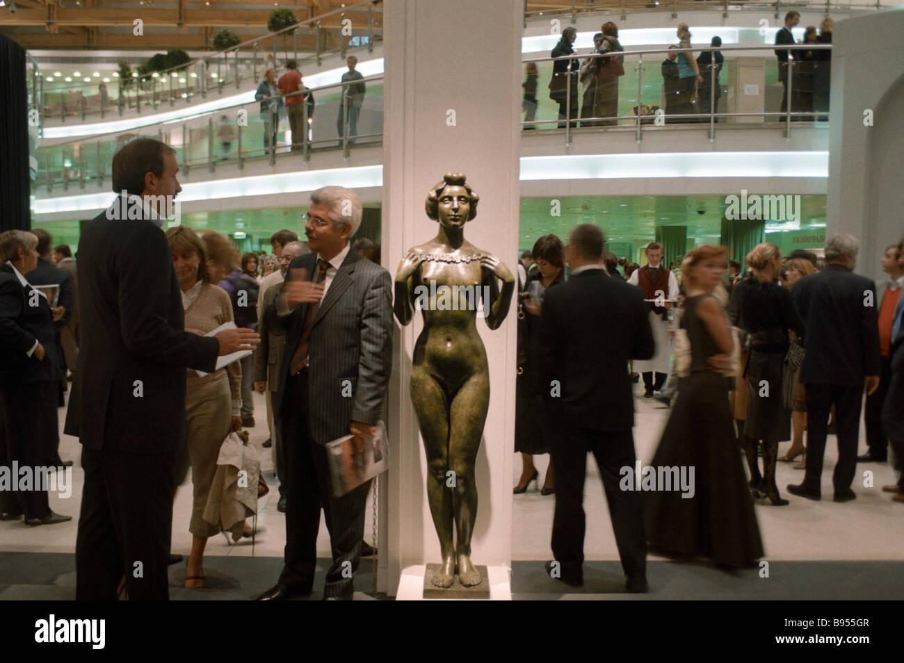 Le Moscow International Fine Arts Gallery dans le hall d'exposition centrale Manezh Photo Stock