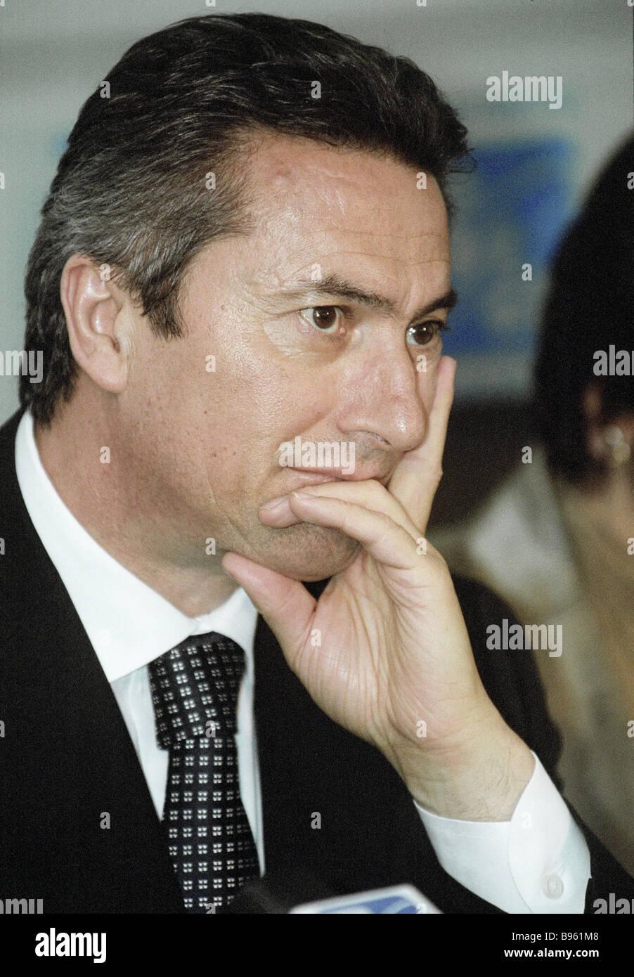 Président du comité de la Douma d'état de la politique économique de l'entrepreneuriat Photo Stock