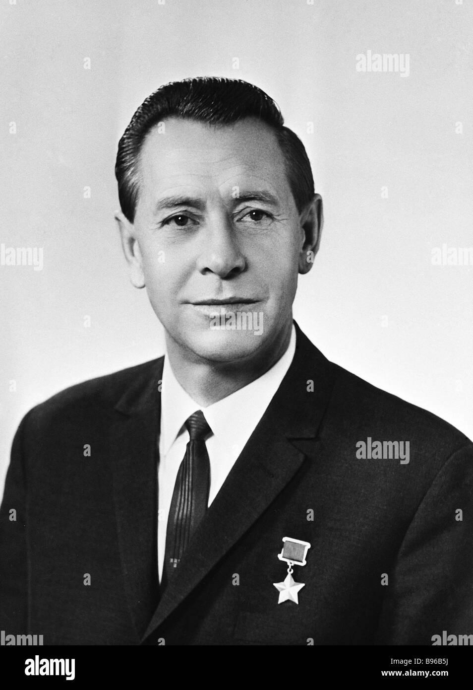 Piotr Mironovich Masherov 1919 1980 qui était un état figure Héros de l'Union soviétique Photo Stock