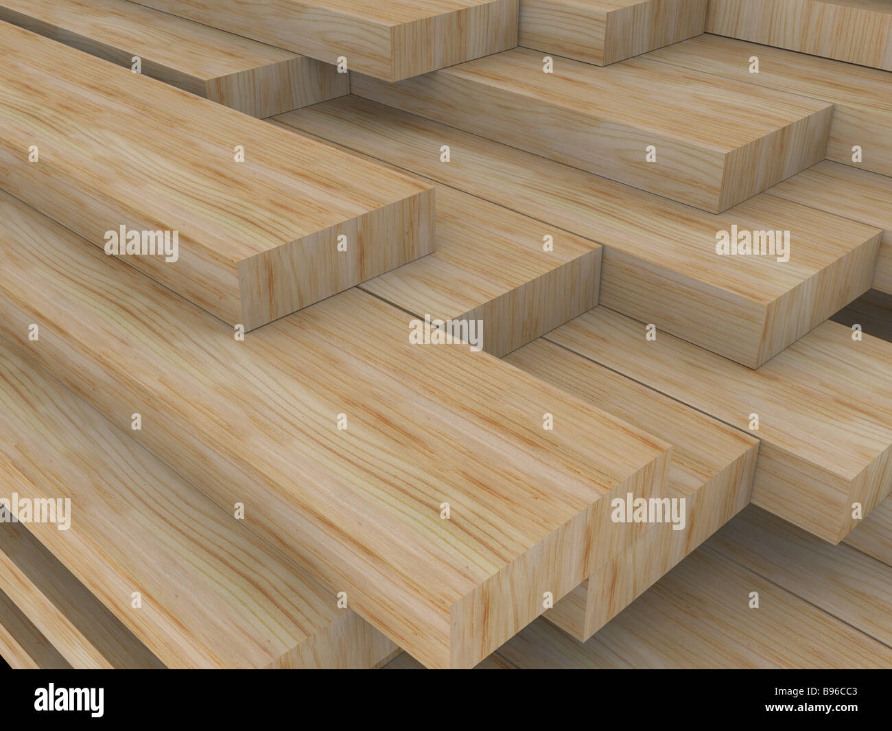 planches de bois Photo Stock