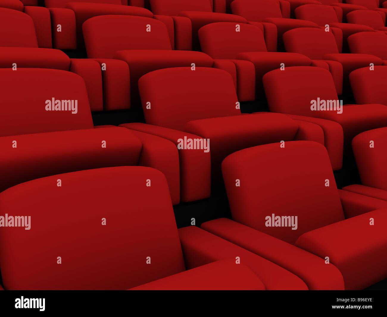 sièges de cinéma Photo Stock