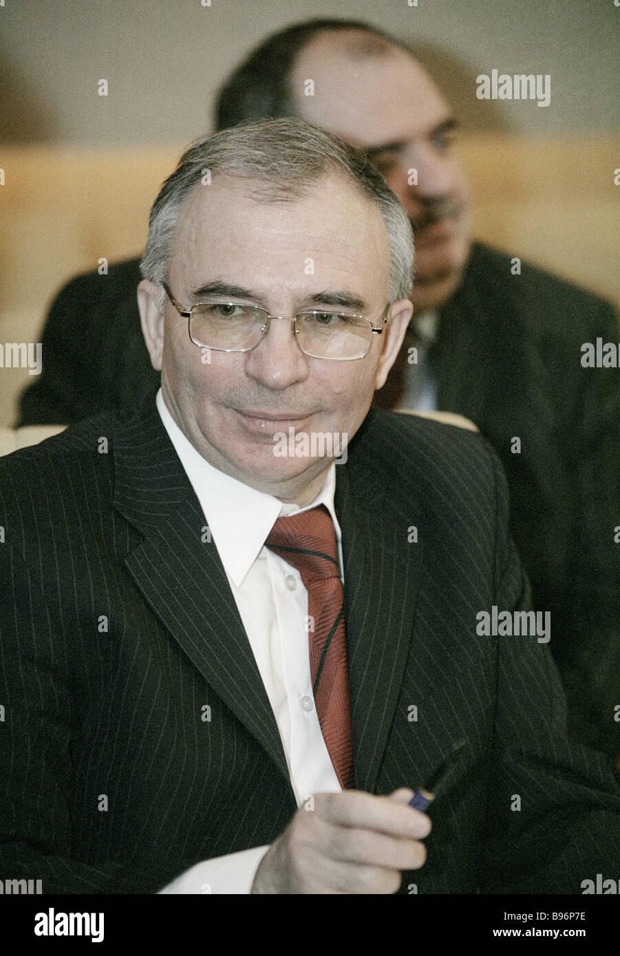 Anatoli Mikhalev Directeur de l'Agence Fédéral de l'agriculture Photo Stock