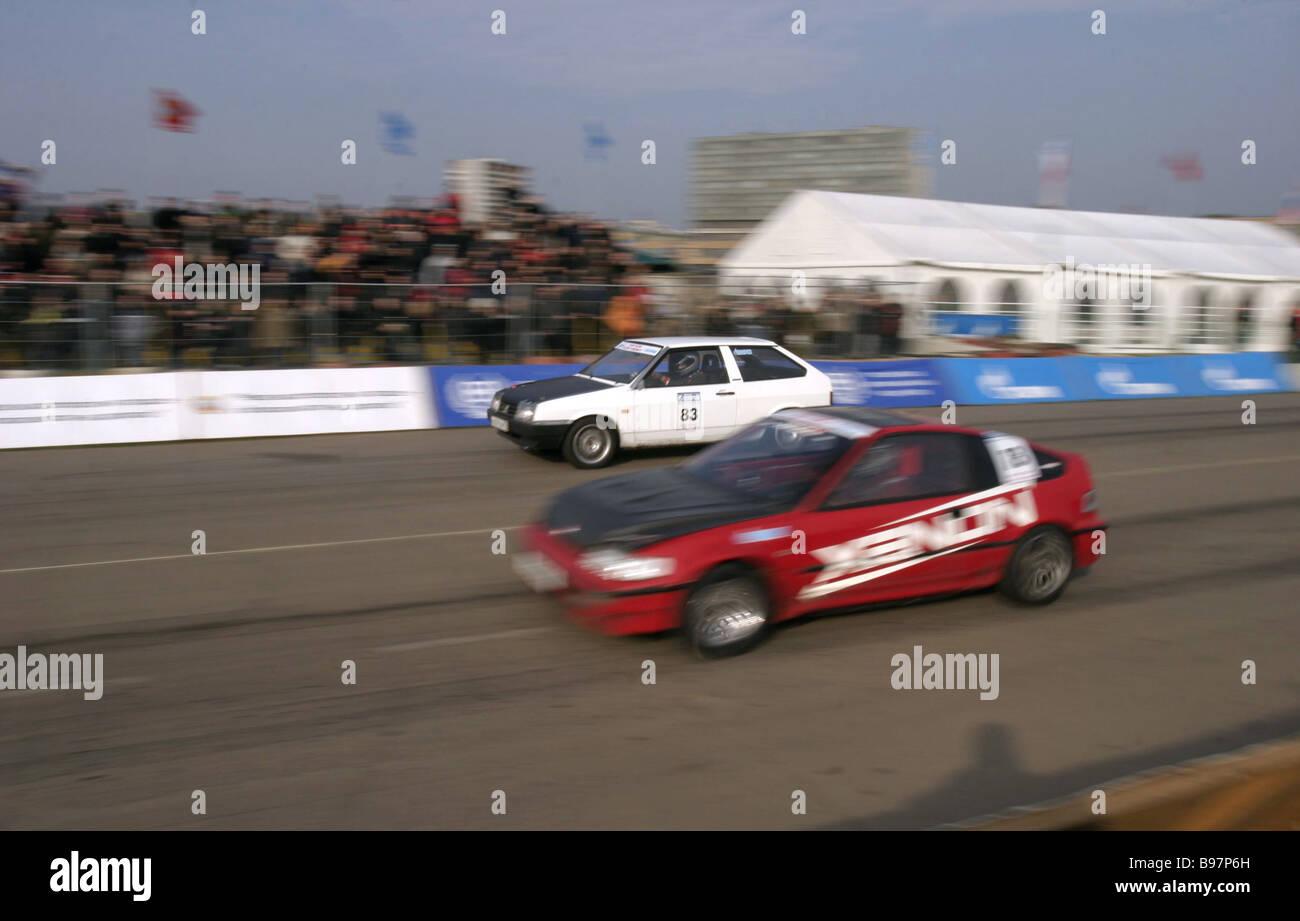 La Coupe de Russie Drag Racing finale Photo Stock