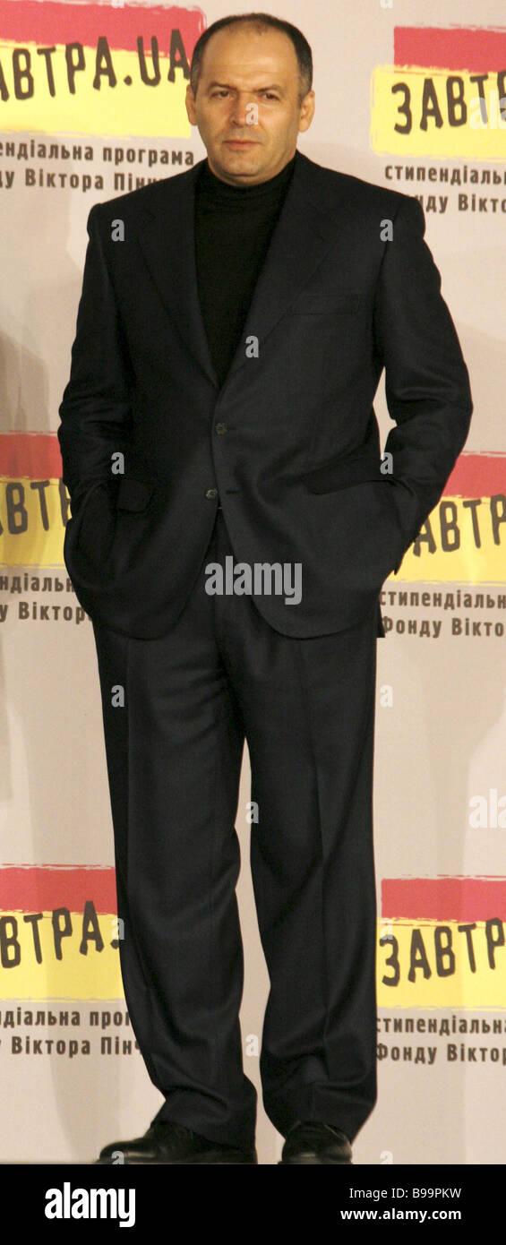 Le milliardaire ukrainien Viktor Linchuk le gendre de l'ancien président ukrainien Leonid Koutchma Photo Stock