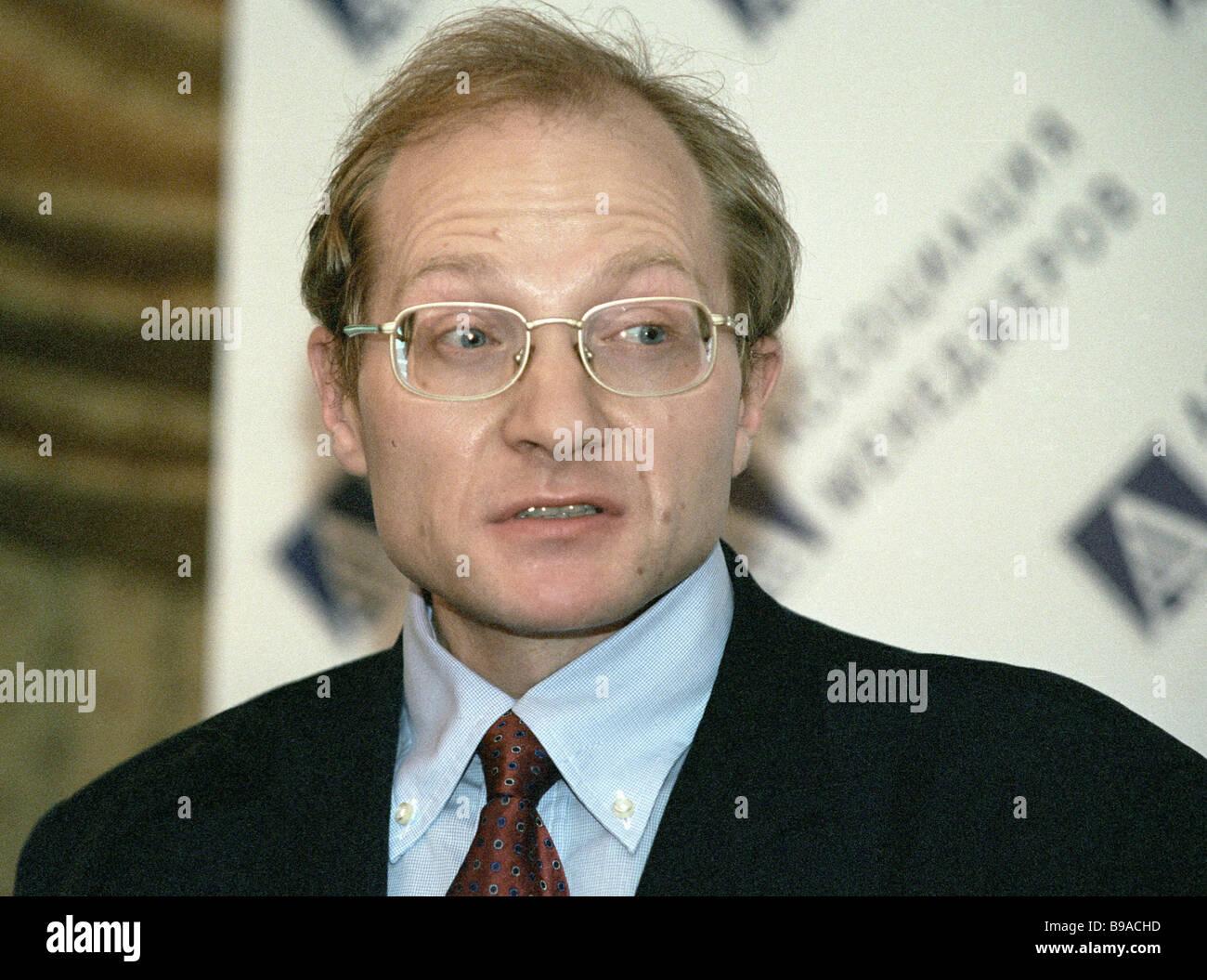 Le premier vice-ministre du Développement économique et du Commerce Mikhail Dmitriev Photo Stock