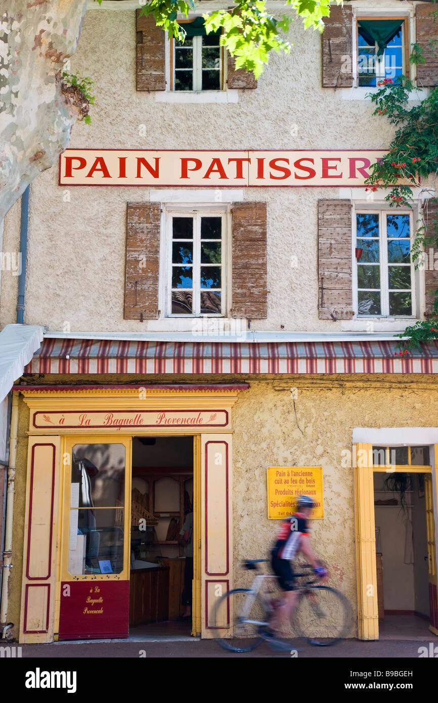 Pain Patisserie Villes-sur-Auzon Vaucluse provence france Photo Stock