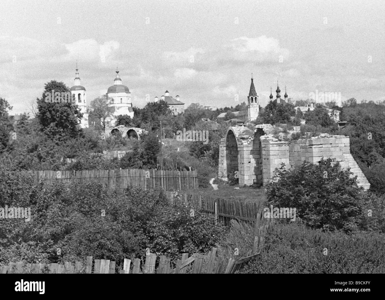 Une section du Kremlin en pierre blanche Photo Stock