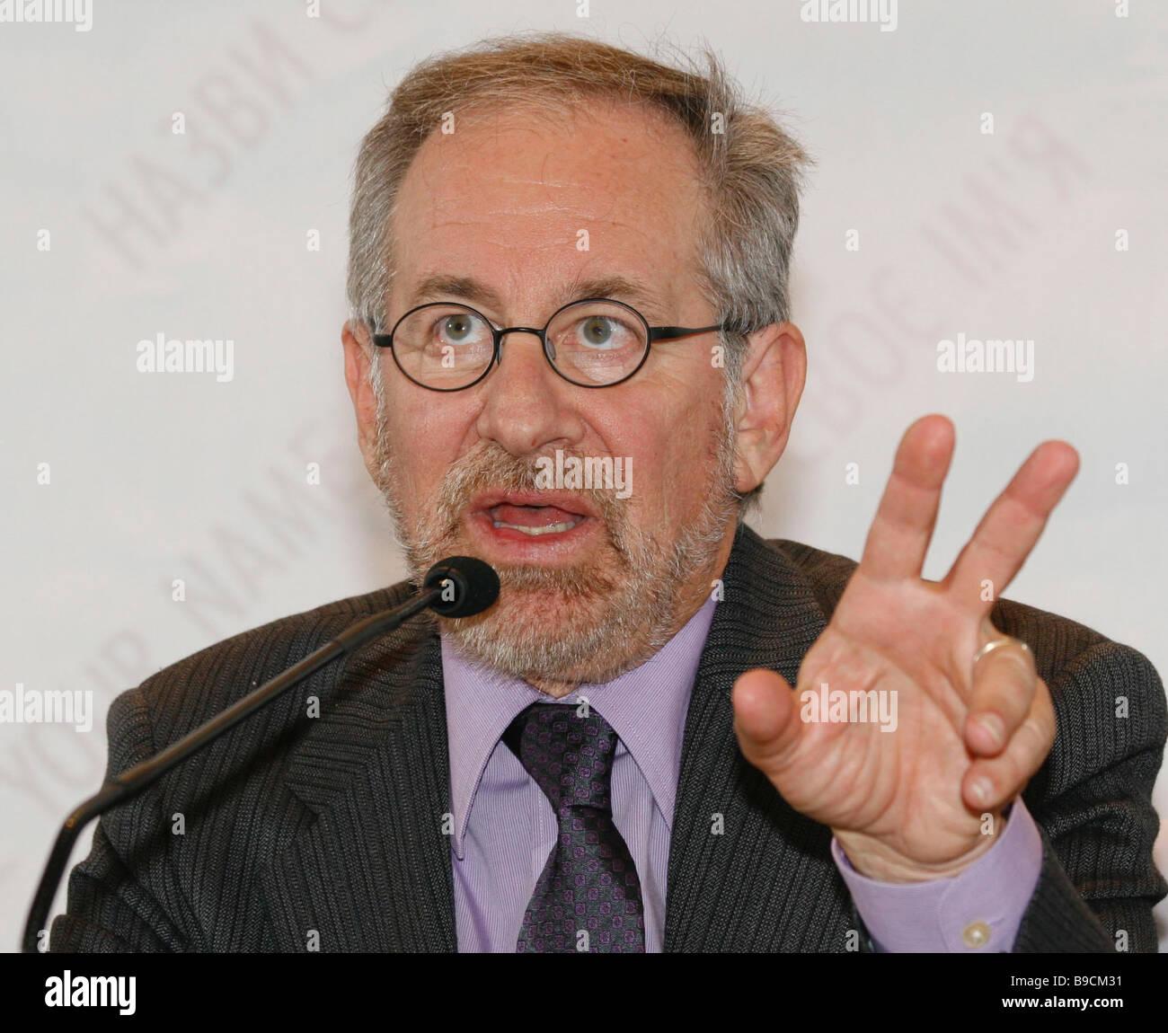 Stephen Spilberg lors d'une conférence de presse sur le premier spectacle de Sergei Bukovsky s film Quel Photo Stock
