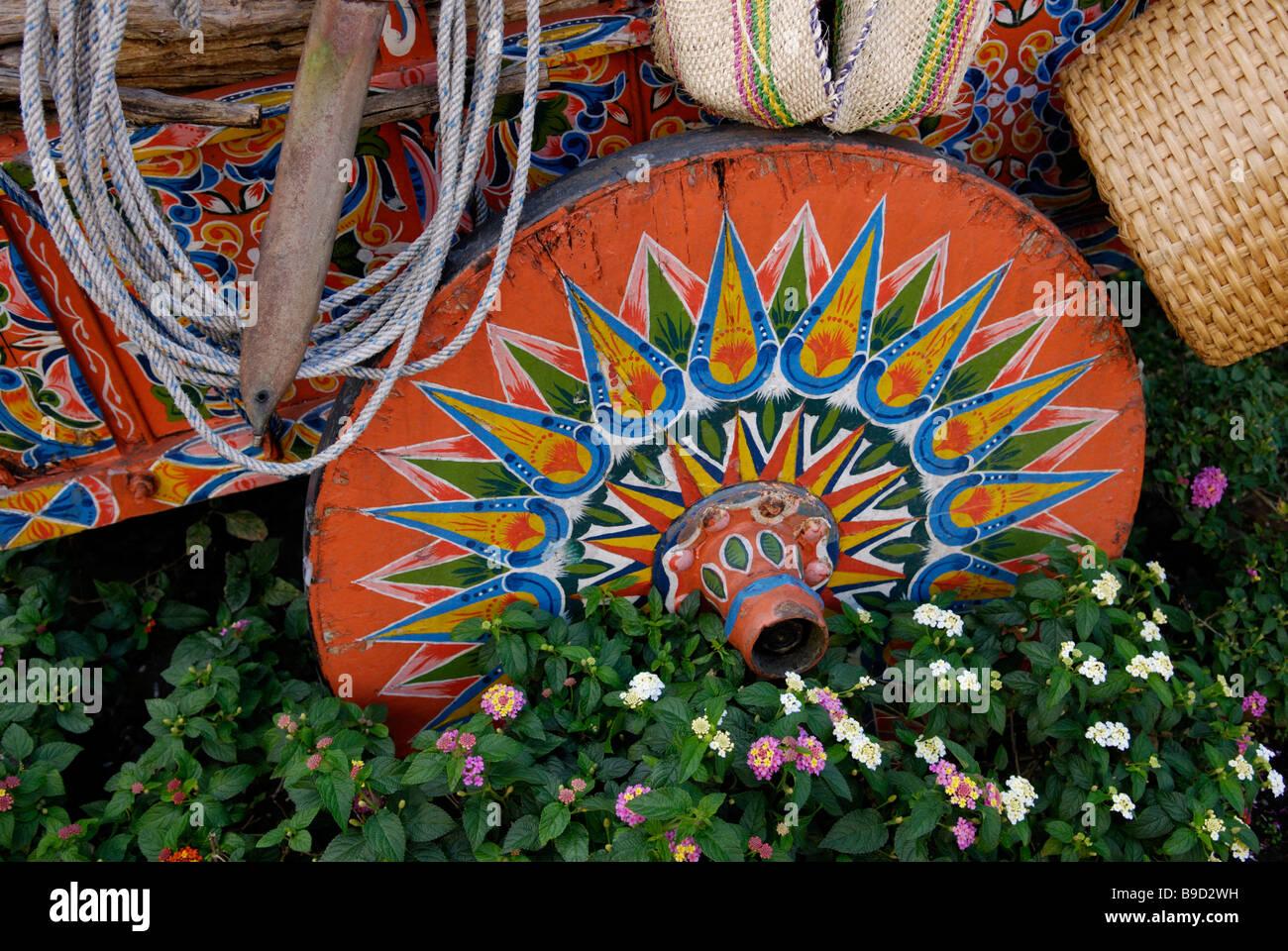 Roue de charrette, Costa Rica Photo Stock