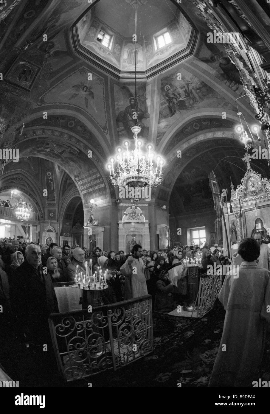 Un service à la Cathédrale de Chisinau Photo Stock