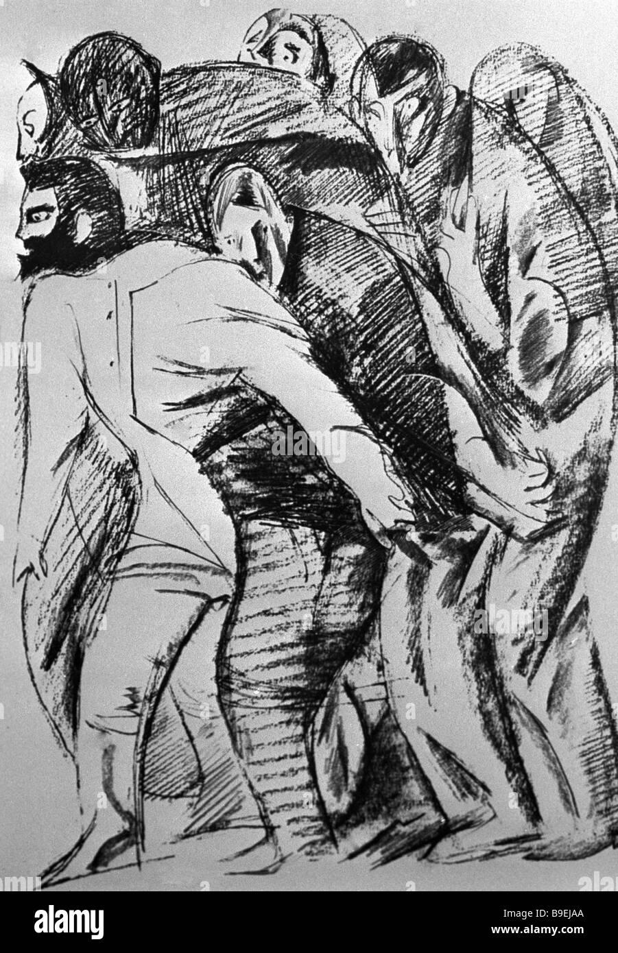 Vitaly s Goryaev illustration reproduite à l'Idiot de Fedor Dostoïevski roman Photo Stock