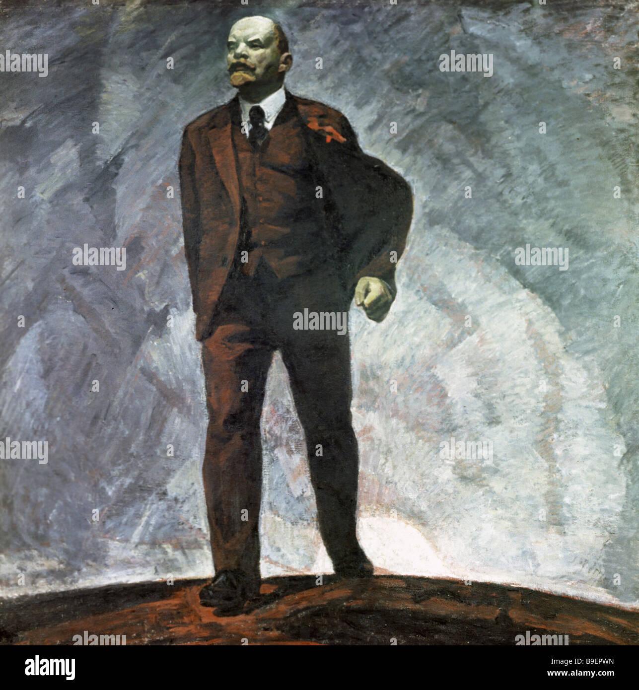 Reproduction de Mikhail Bozhiy s Photo 20e siècle huile toile provenant de la collection de l'état du Musée des Banque D'Images