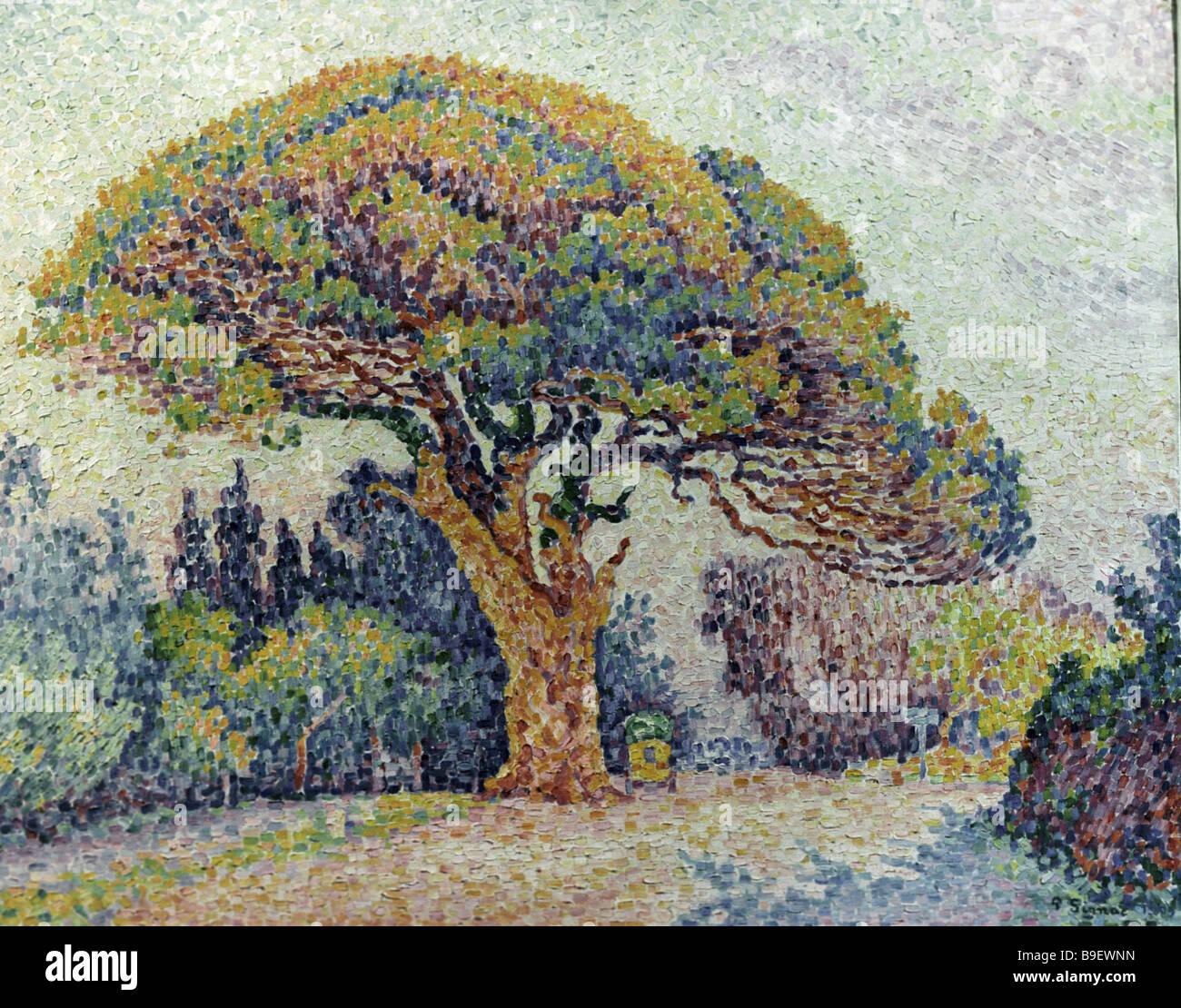 Le Pine St Tropez par Paul Signac s 1863 1935 de la collection du musée des beaux-arts Pouchkine Banque D'Images