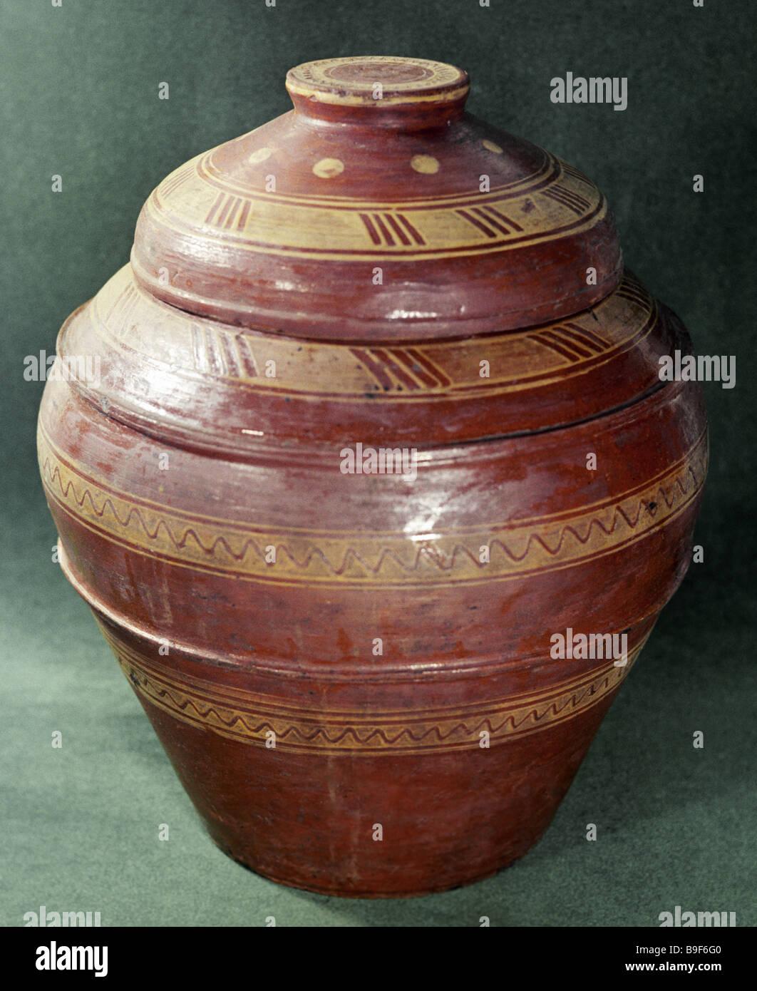 Un pot en céramique du 20e siècle Photo Stock