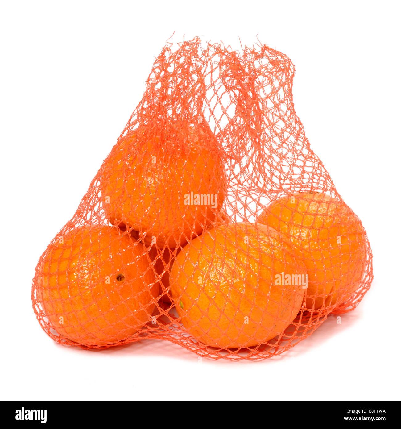 Sac d'oranges Photo Stock