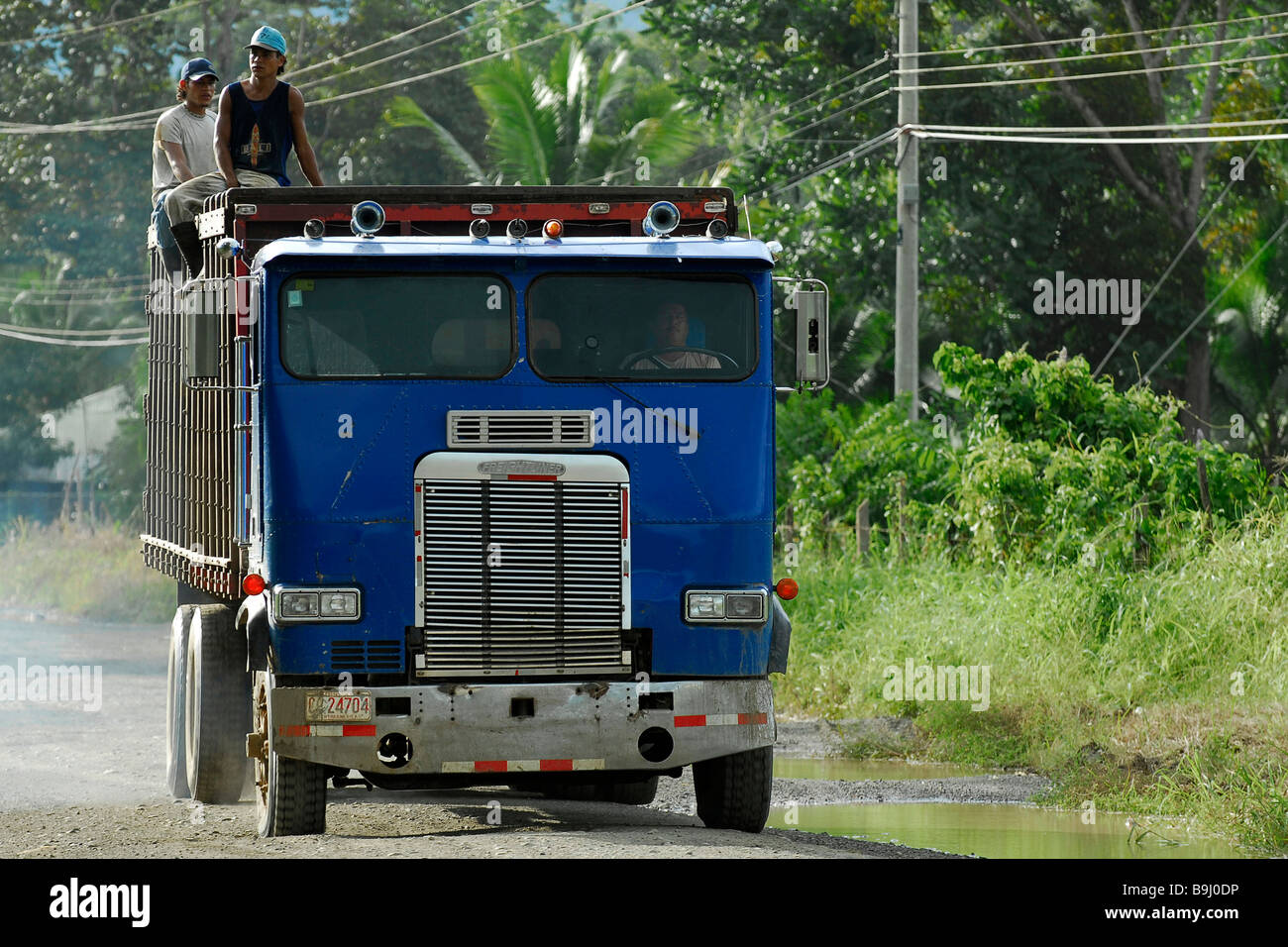 Camion, Puerto Jiménez, Osa, Puntarenas, Costa Rica, Amérique Centrale Photo Stock