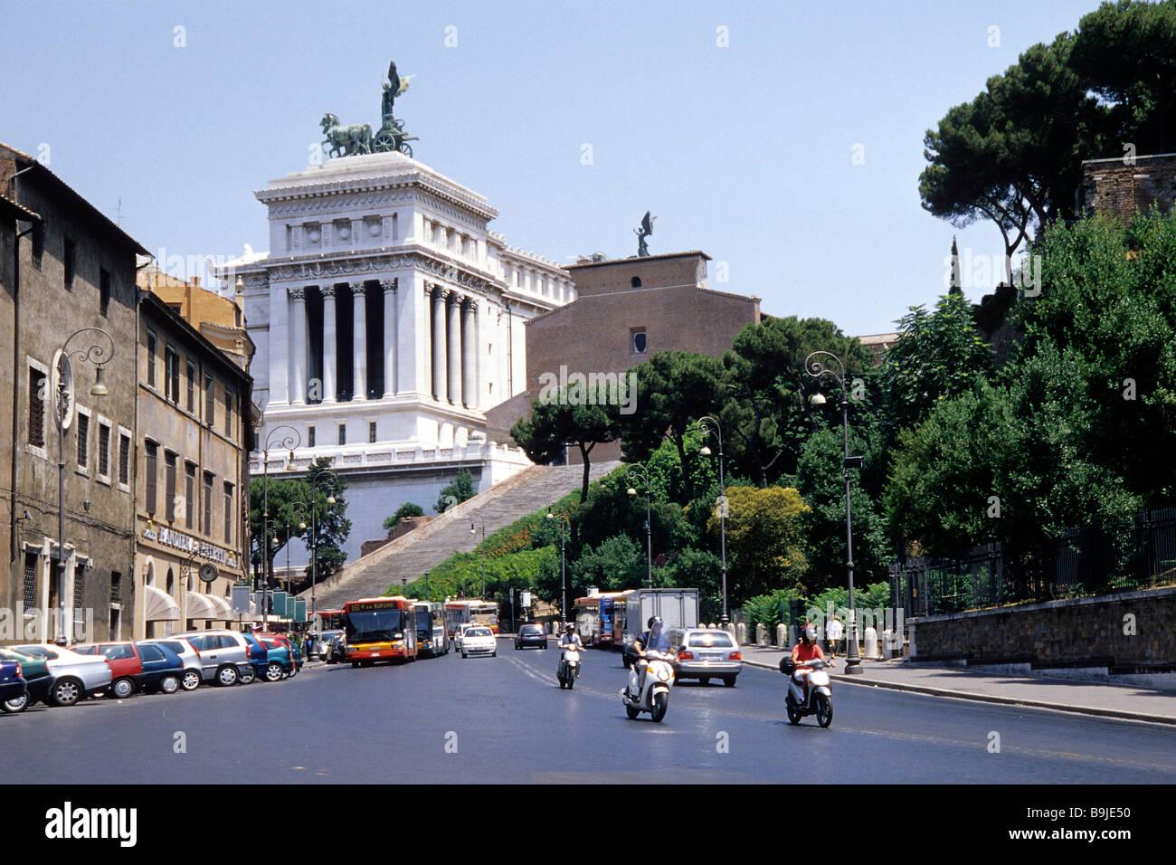 Vittoriano, monument à Vittorio Emanuele II, l'autel de la patrie, l'impériale memorial, Via del Photo Stock
