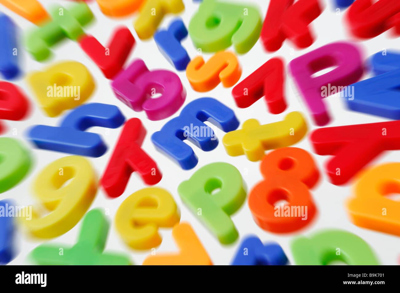 Lettres magnétiques Photo Stock