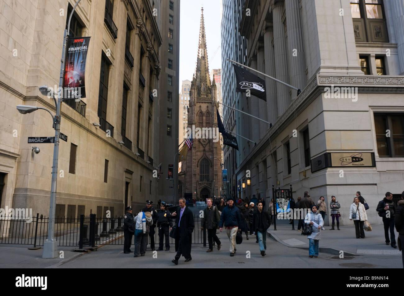 New York NY 24 mars 2009 Wall Street Photo Stock