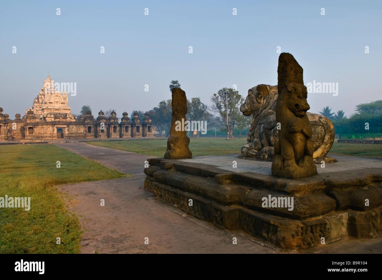 Temple Kailasanatha Tamil Nadu Inde Kanchipuram Banque D'Images