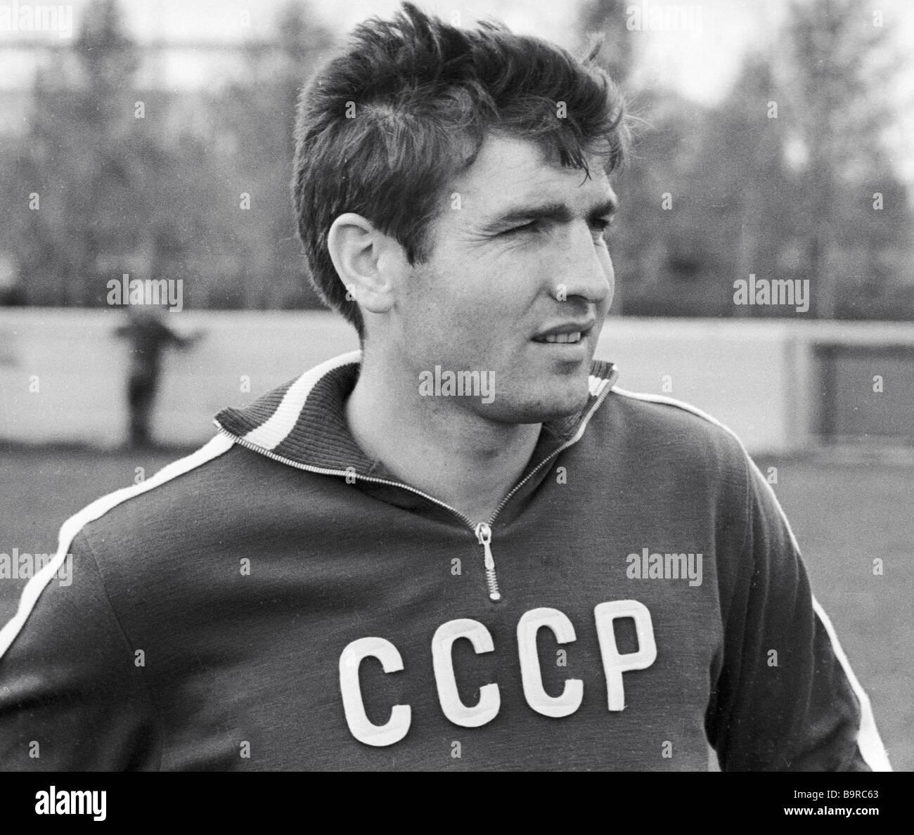U S S R de la moitié de l'équipe nationale de soccer retour Fiodor Medvid Photo Stock