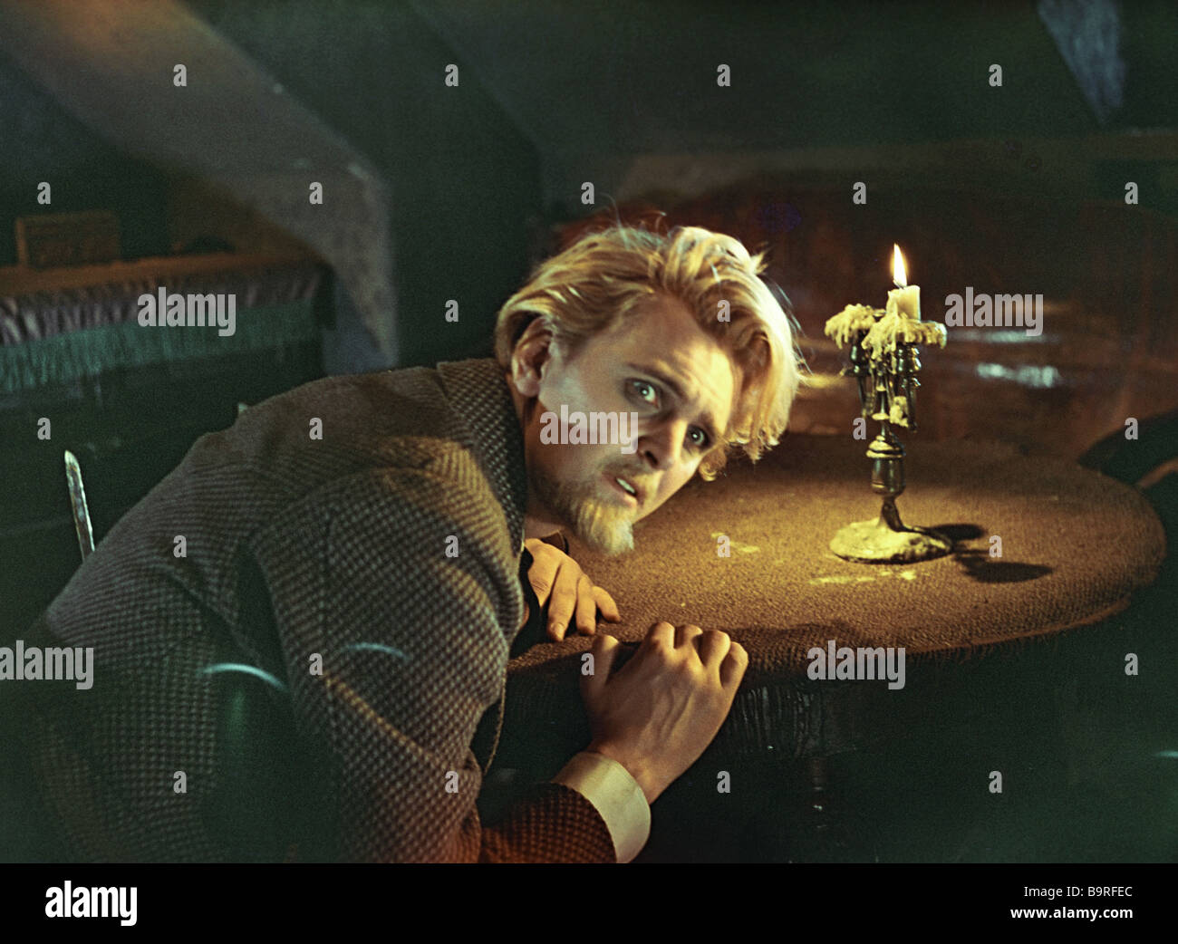 Yury Yakovlev comme Prince Mychkine sur l'emplacement de l'animation l'Idiot Photo Stock