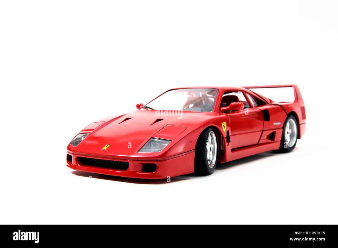 Ferrari Par D'un Réplique Miniature F40 Modèle Rouge Voiture JuFcTK1l3