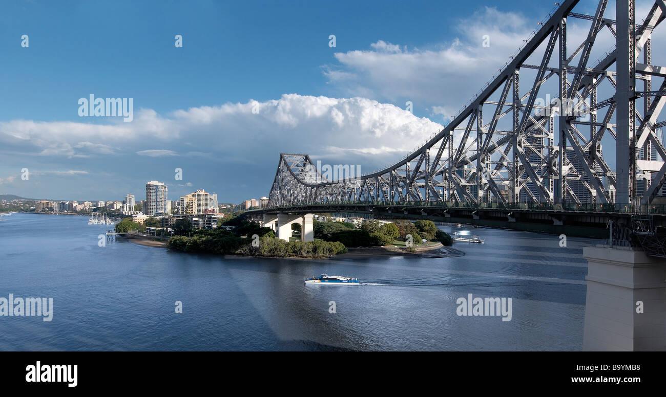 Le Story Bridge Brisbane Australie Photo Stock