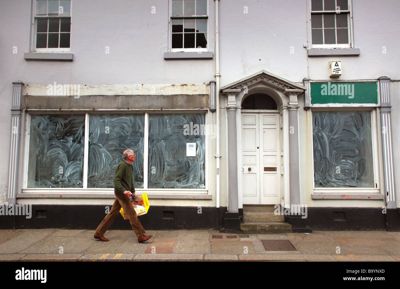 Boutique vide, Devon, UK. Photo Stock