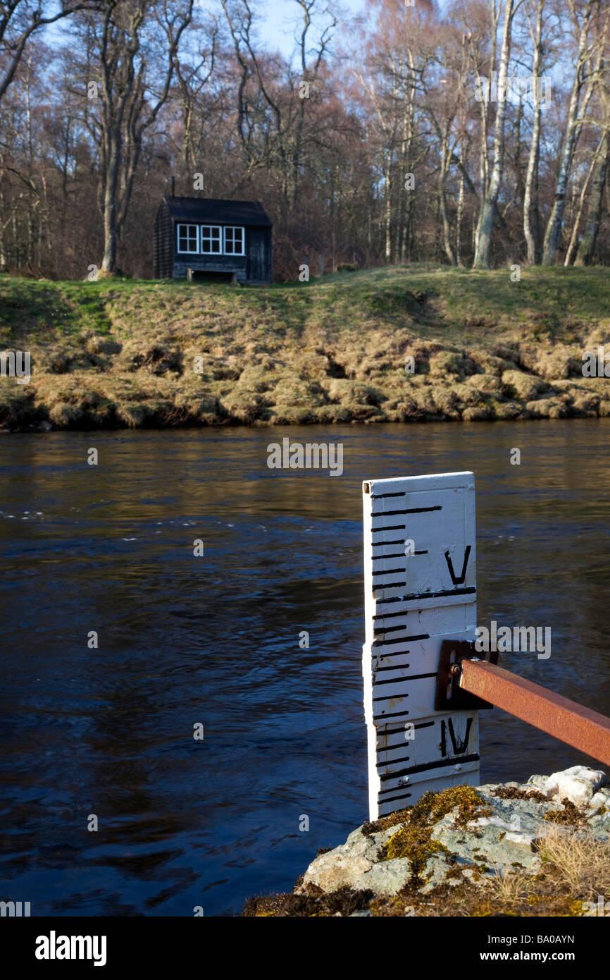 Salmon- fisher's bothy, eau, rivière, de la profondeur, de l'environnement, de l'environnement, Photo Stock