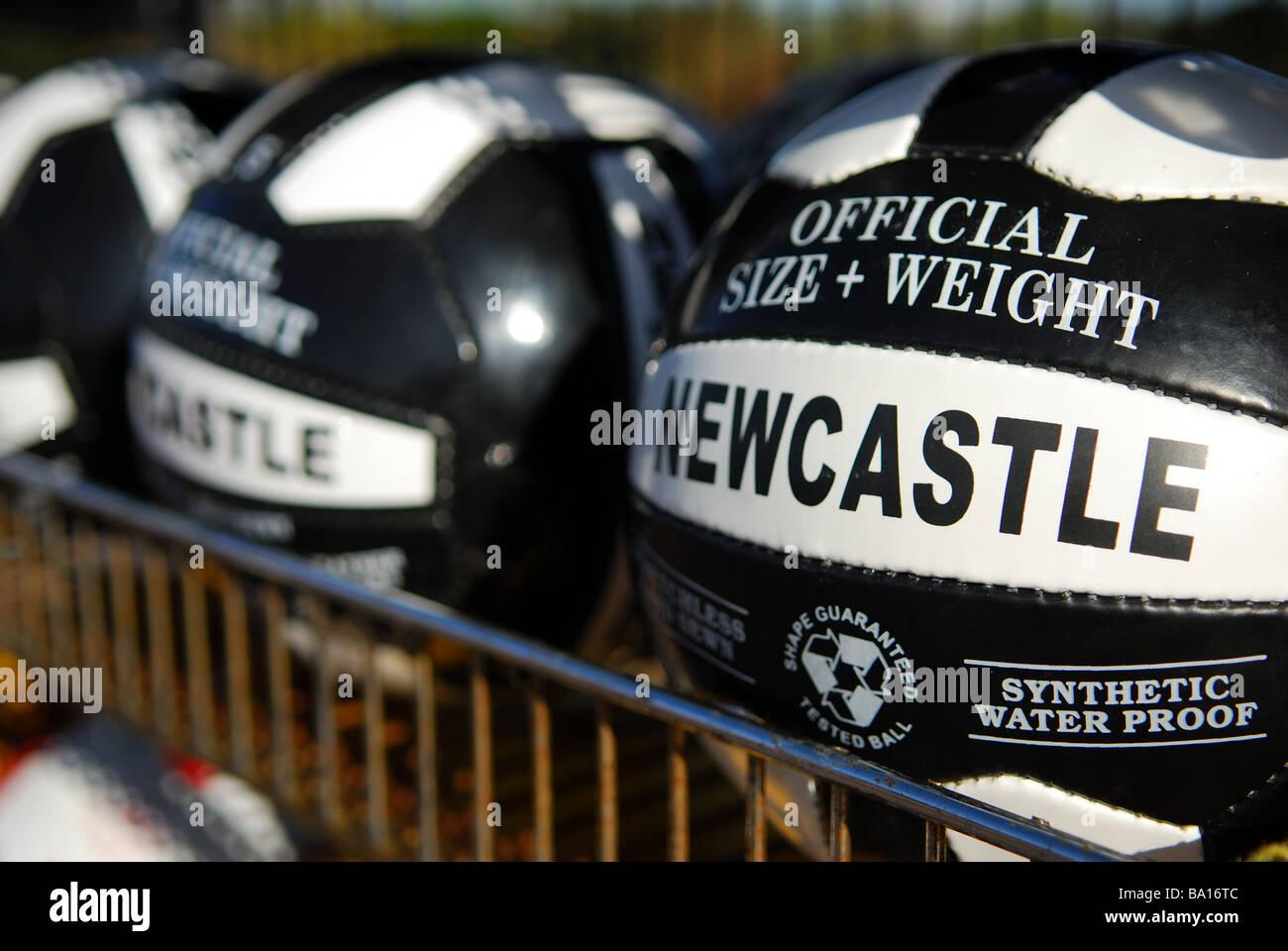 Ballons de Newcastle FC. Banque D'Images