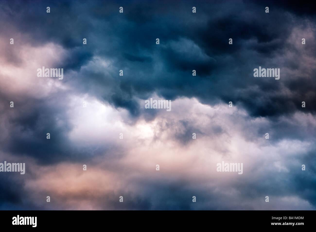 Nuages d'orage Photo Stock