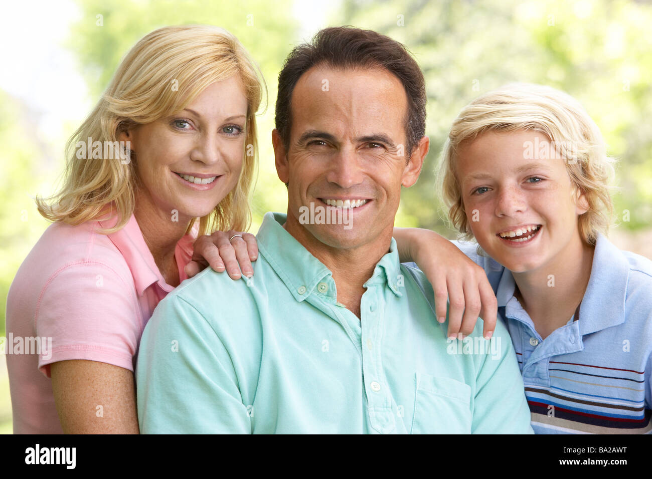 Couple et leur fils Banque D'Images