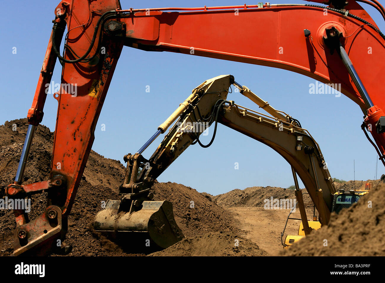 Travaux d'excavation Banque D'Images