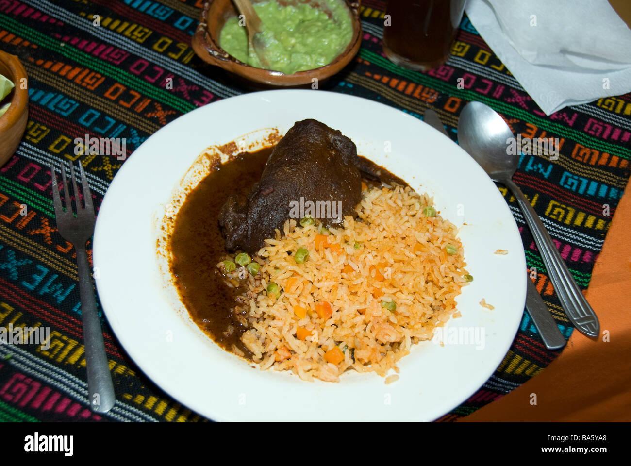 La cuisine mexicaine, la viande en sauce au chocolat Banque D'Images