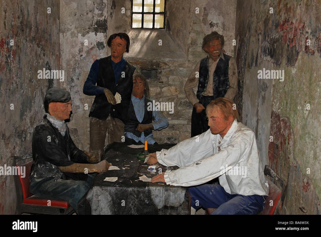 Taille de la vie d'un modèle de cellule dans la prison de Bodmin cornwall,musée,uk Photo Stock