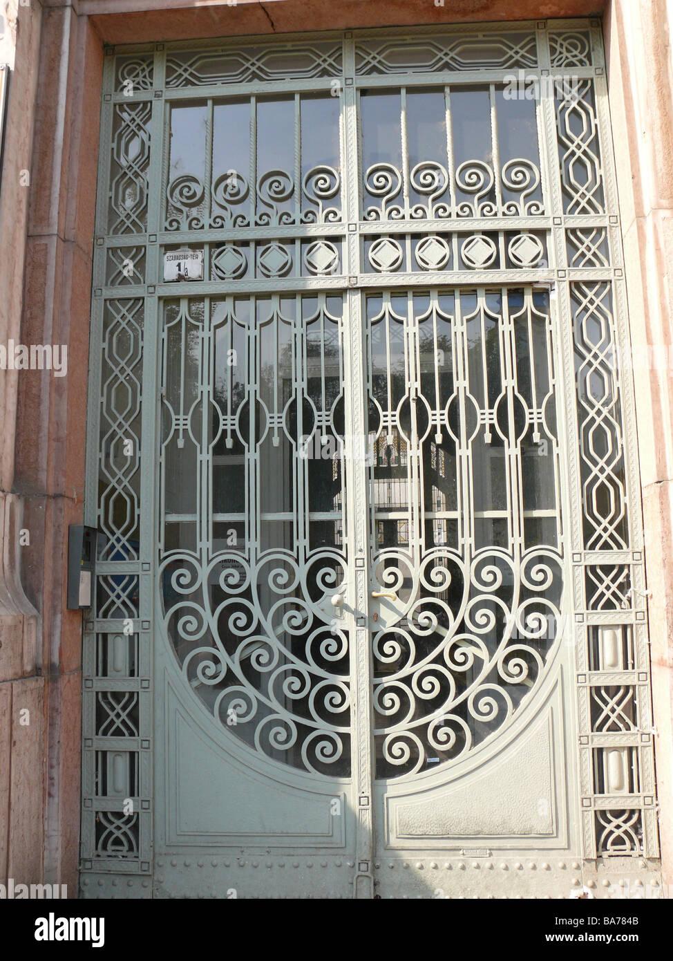 Cl tures la porte de la chambre d 39 immeubles de d tail porte d 39 entr e verrouill e pour cl tures - Model porte d entree fer forge ...