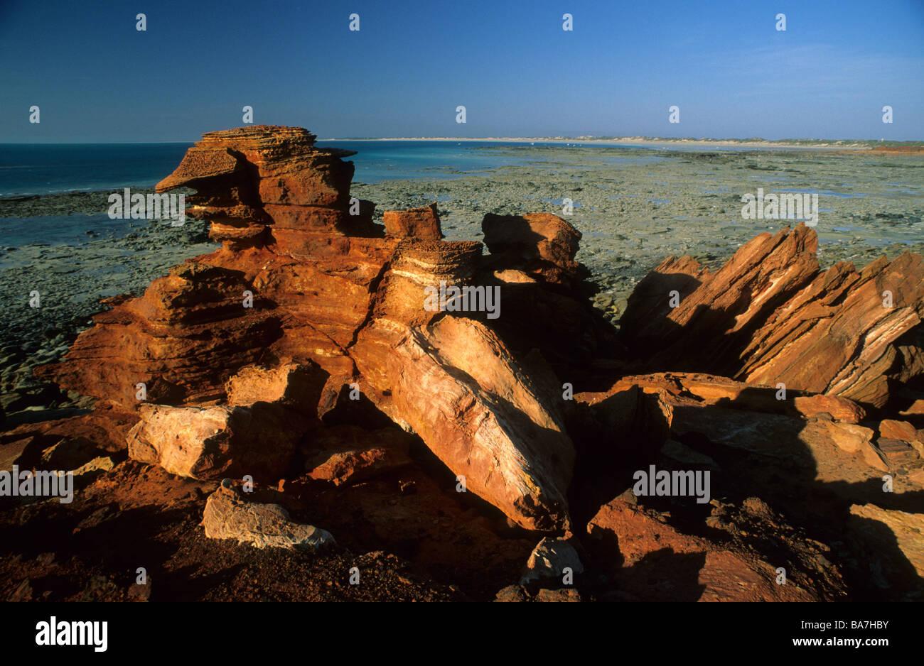Les rochers à Gantheaume Point, Broome, Australie occidentale, Australie Banque D'Images