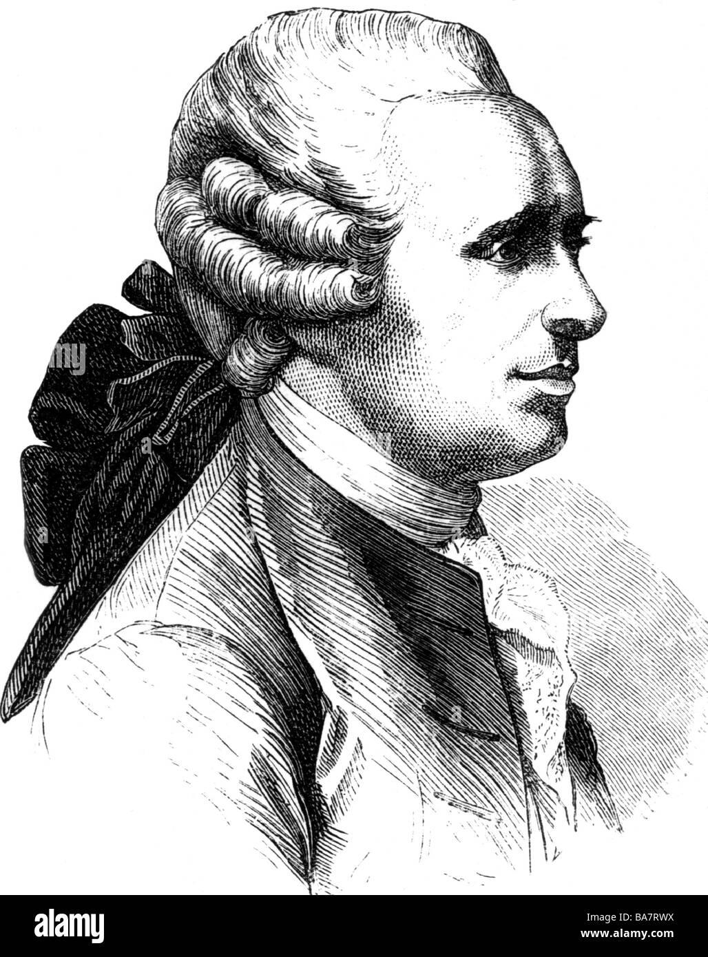 Alembert, Jean Le Rond d', 16.11.1717 - 19.10.1783, scientifique français (mathématicien, physicien, Photo Stock