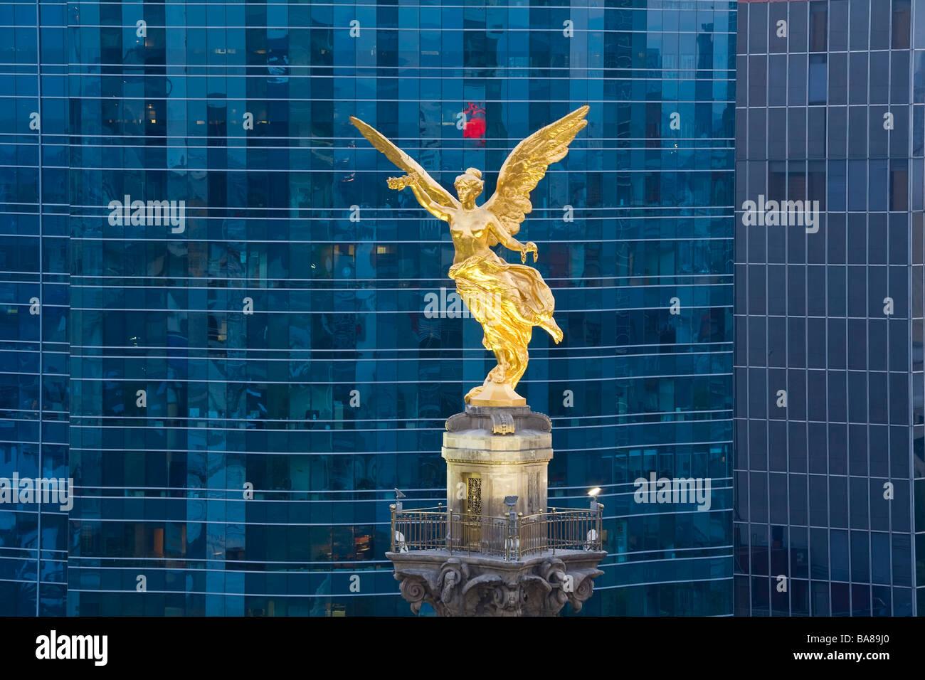 Monument de l'indépendance d'El Angel Mexico Mexique bureaux Photo Stock