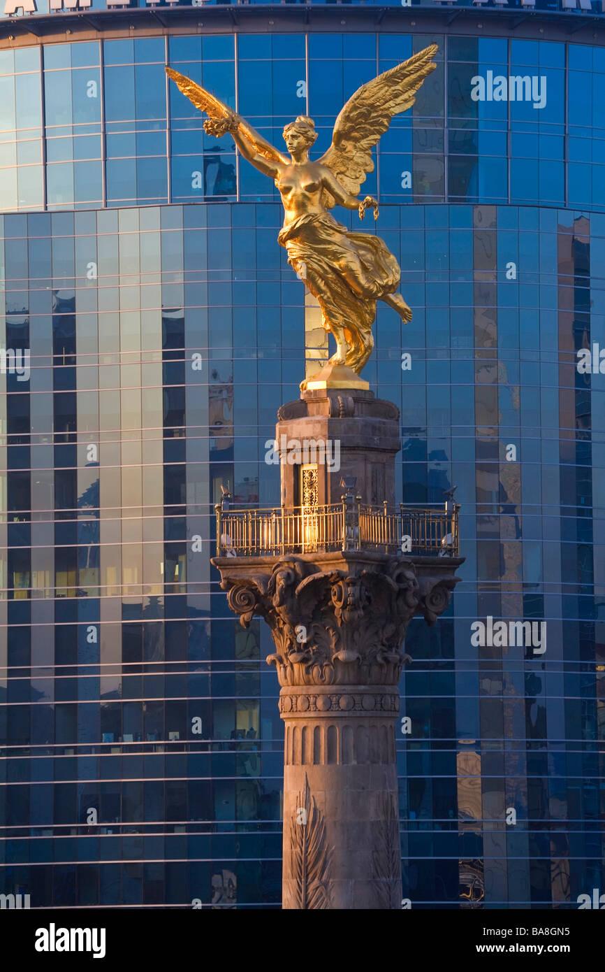 Monument de l'indépendance d'El Angel, Mexico, Mexique bureaux Photo Stock