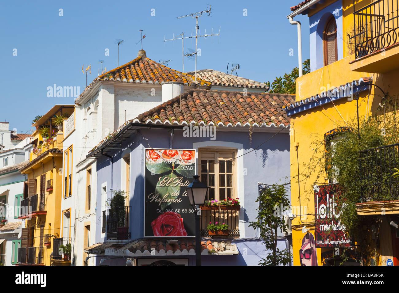 La province de Malaga Marbella Costa del Sol Espagne architecture typique Photo Stock